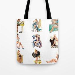 Pin-Up Girls Tote Bag