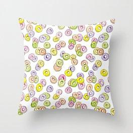 fruit rings Throw Pillow