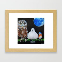 Wisdom Peace and Happiness Framed Art Print