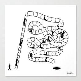 Le toboggan de la vie Canvas Print