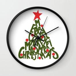 CHRISTMAS TREE TYPE Wall Clock