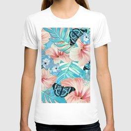 Tropical Spring Aqua T-shirt