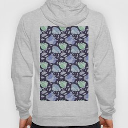 Modern abstract mint pastel purple floral illustration Hoody