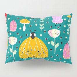 Bugs and mushrooms Pillow Sham