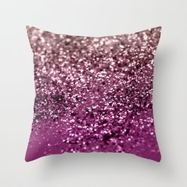 Sparkling BLACKBERRY CHAMPAGNE Lady Glitter #2 #decor #art #society6 Throw Pillow