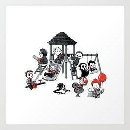 Horror Park Art Print