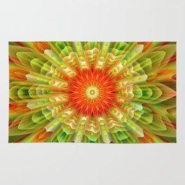 Abstract yellow orange luxury Mandala Rug
