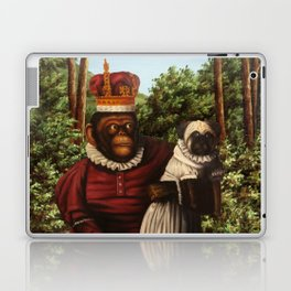 Monkey Queen with Pug Baby Laptop & iPad Skin