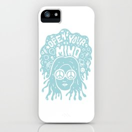 Open Your Mind in Mint iPhone Case