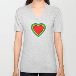 One love, one heart Unisex V-Neck