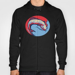 Catfish Mud Cat Jumping Retro Hoody