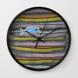 Not Whaling / Imperfect Lines Wall Clock