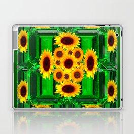 SPRING GREEN YELLOW FLOWERS  ART DECORATIVE  DESIGN Laptop & iPad Skin