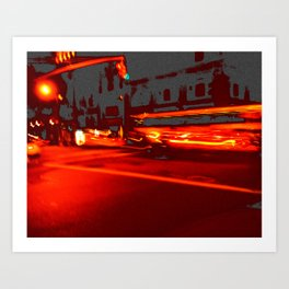 City Streets Art Print
