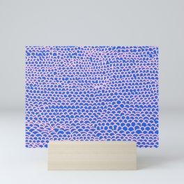 Noodle Doodle Blue Mini Art Print