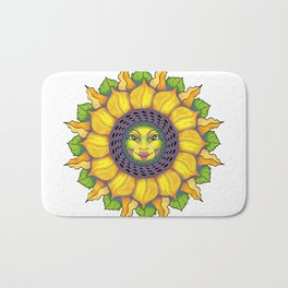 Sunflower Sunshine Girl by Amanda Martinson Bath Mat