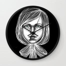 Negativ-Bow tie Girl Wall Clock