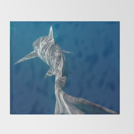 Peaceful Lemon Shark Throw Blanket