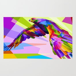 Colorful Eagle Illustration Rug