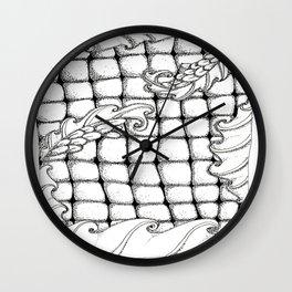 Dragon flowers Wall Clock
