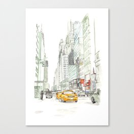 New York City Taxi Canvas Print