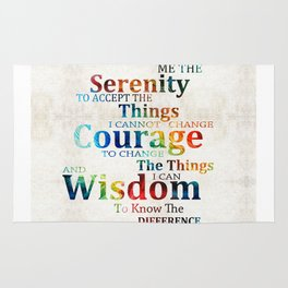 Colorful Serenity Prayer by Sharon Cummings Rug