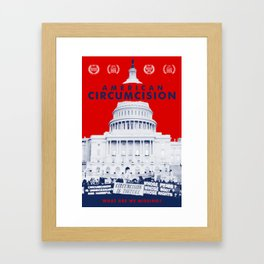 American Circumcision Official Movie Poster Framed Art Print