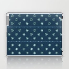 Blue Circles on Blue Laptop & iPad Skin