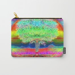 Neon Glow Tree of Life Carry-All Pouch
