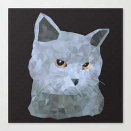 Low poly british cat Canvas Print