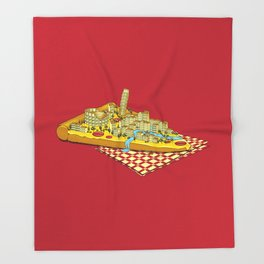 Hungry for Travels: Slice of Italy Throw Blanket