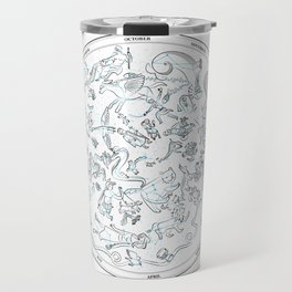 Constellations of the Northern sky - ligth blue Travel Mug
