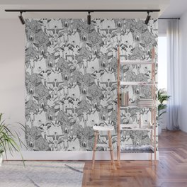 just goats black white Wall Mural