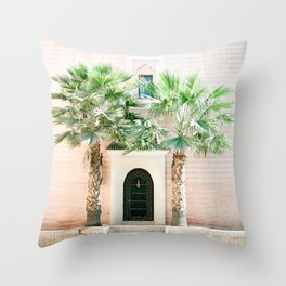 """Travel photography print """"Magical Marrakech"""" photo art made in Morocco. Pastel colored. Throw Pillow"""