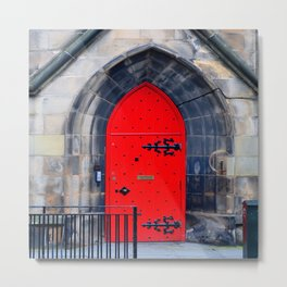 Red Door Metal Print