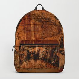 Rustic Old World Map Backpack