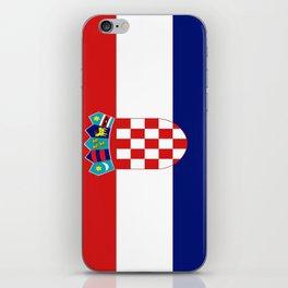 Flag of croatia -croatian, Hrvatska,croat,croacia,Zagreb,split,rijeka,osijek. iPhone Skin