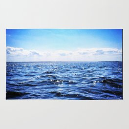 Deep Blue Seaside Rug