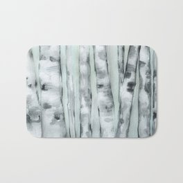 Birch trees in winter Bath Mat