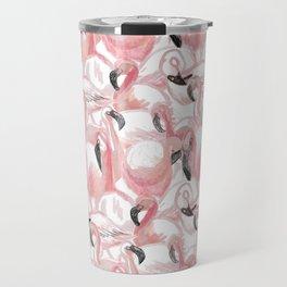 All the Flamingos Travel Mug