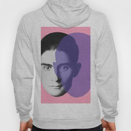 Franz Kafka - portrait pink and purple Hoody