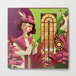 Woman with a parasol Metal Print