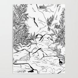 Yosemite sketch Poster