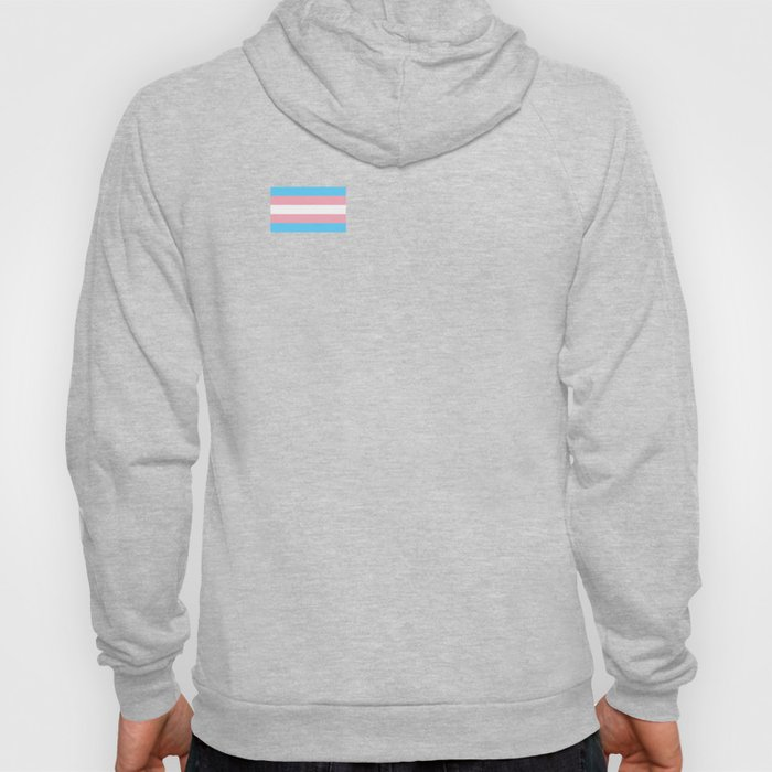 Gay Pride LGBT Transgender Rainbow Stripe Flag design Hoody