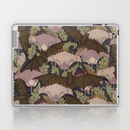 Vintage Art Deco Bat and Flowers Laptop & iPad Skin