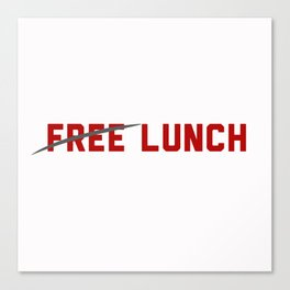FREE LUNCH 3 Canvas Print
