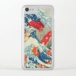 The Great Red Wave Clear iPhone Case