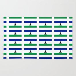 flag of lesotho -maseru,basotho,mosotho,sotho,caledon,sesotho,mokorotlo Rug