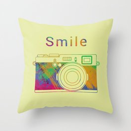 Smile on the Camera Throw Pillow