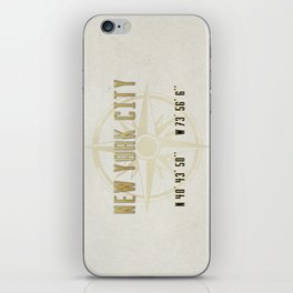New York City Vintage Location Design iPhone Skin